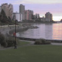 West Vancouver Beach and Seawalk Cam