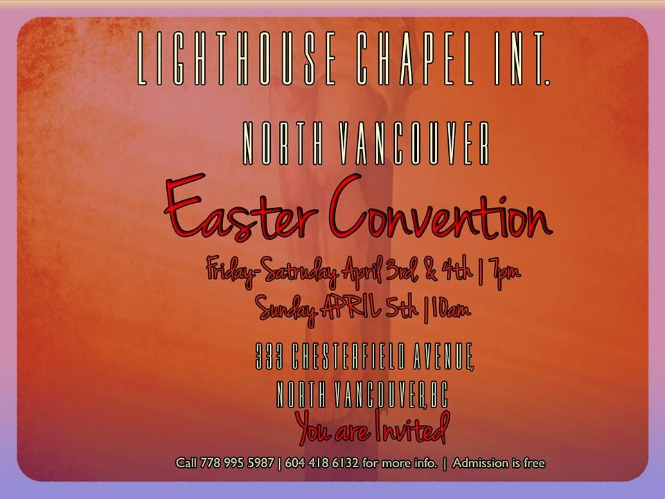 Easter Convention at the Presentation House Theatre-Anne MacDonald Hall North Vancouver