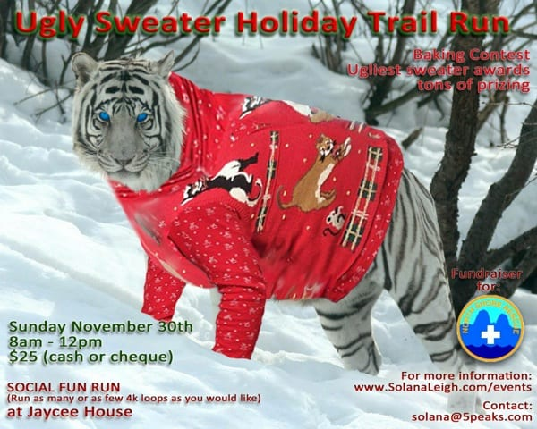 Ugly Sweater Holiday Trail Run & Social at Jaycee House North Vancouver