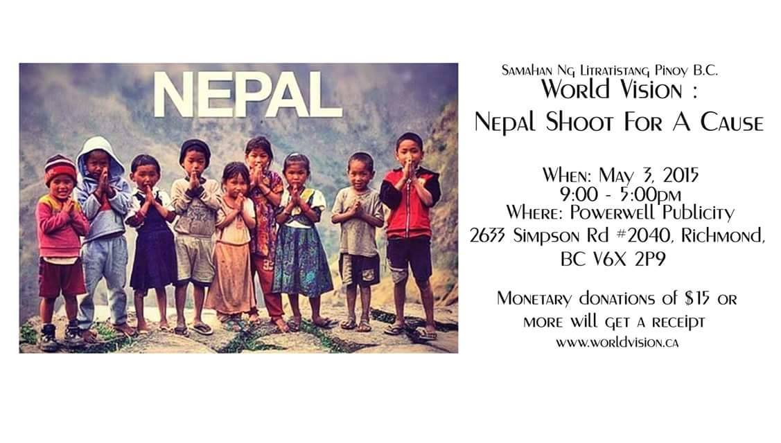 World Vision Vancouver: Nepal Shoot for a Cause at Powerwell Publicity Richmond