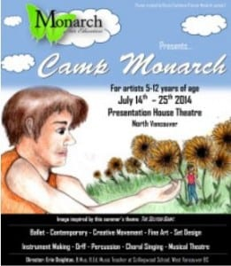 Monarch Arts Presents…The 12th Annual Camp Monarch at the Presentation House Theatre