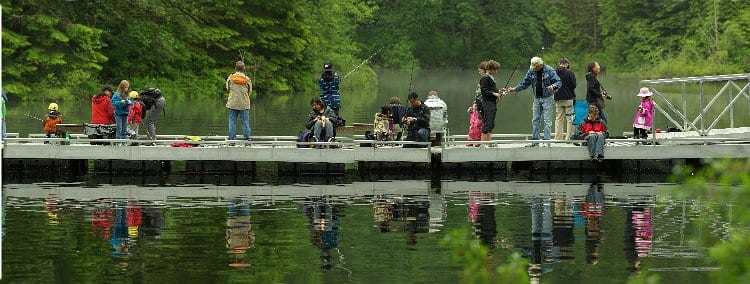 Youth Learn to Fish Program at Rice Lake North Vancouver