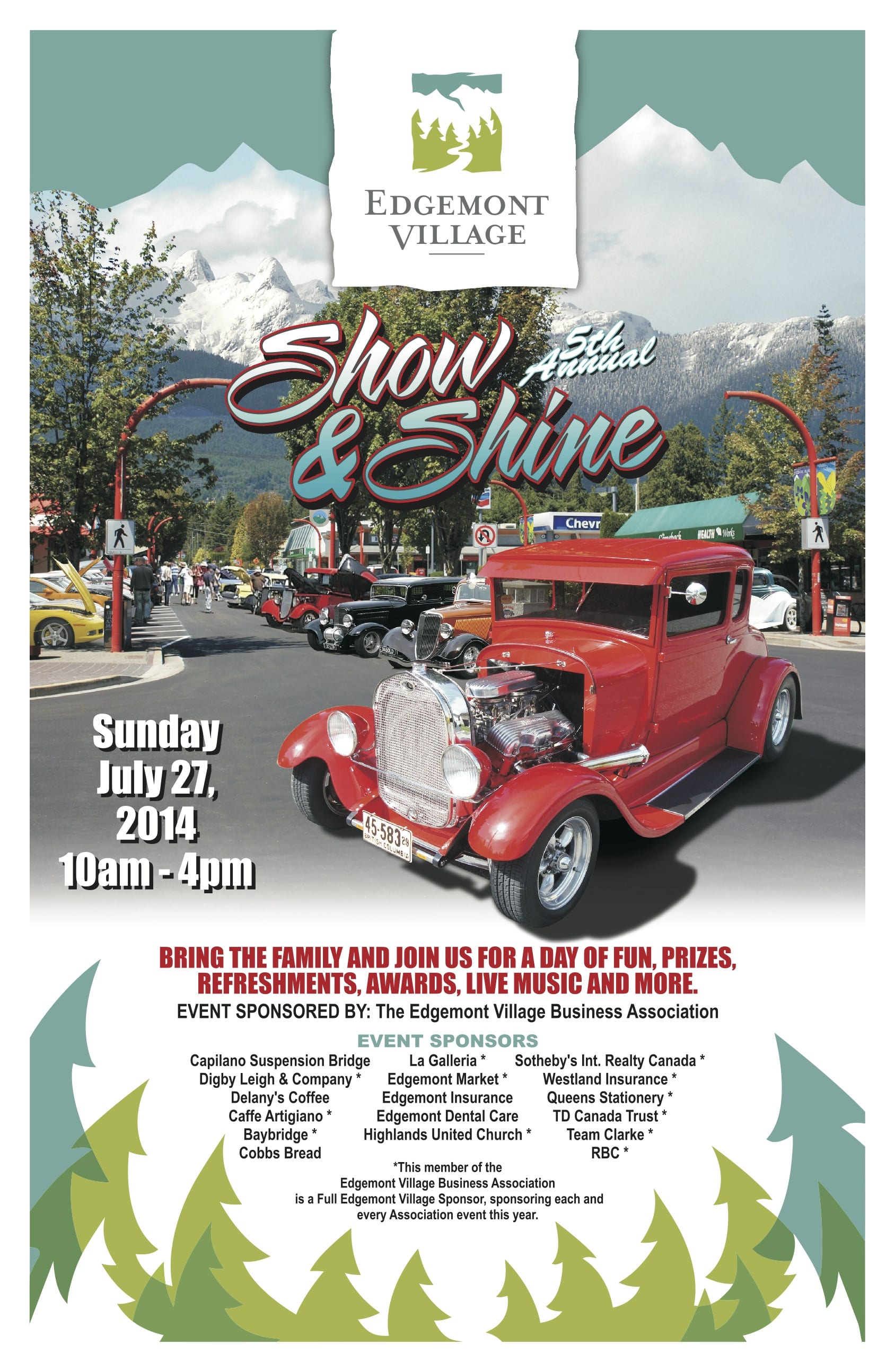 5th Annual Show and Shine Car Show in Edgemont Village North Vancouver