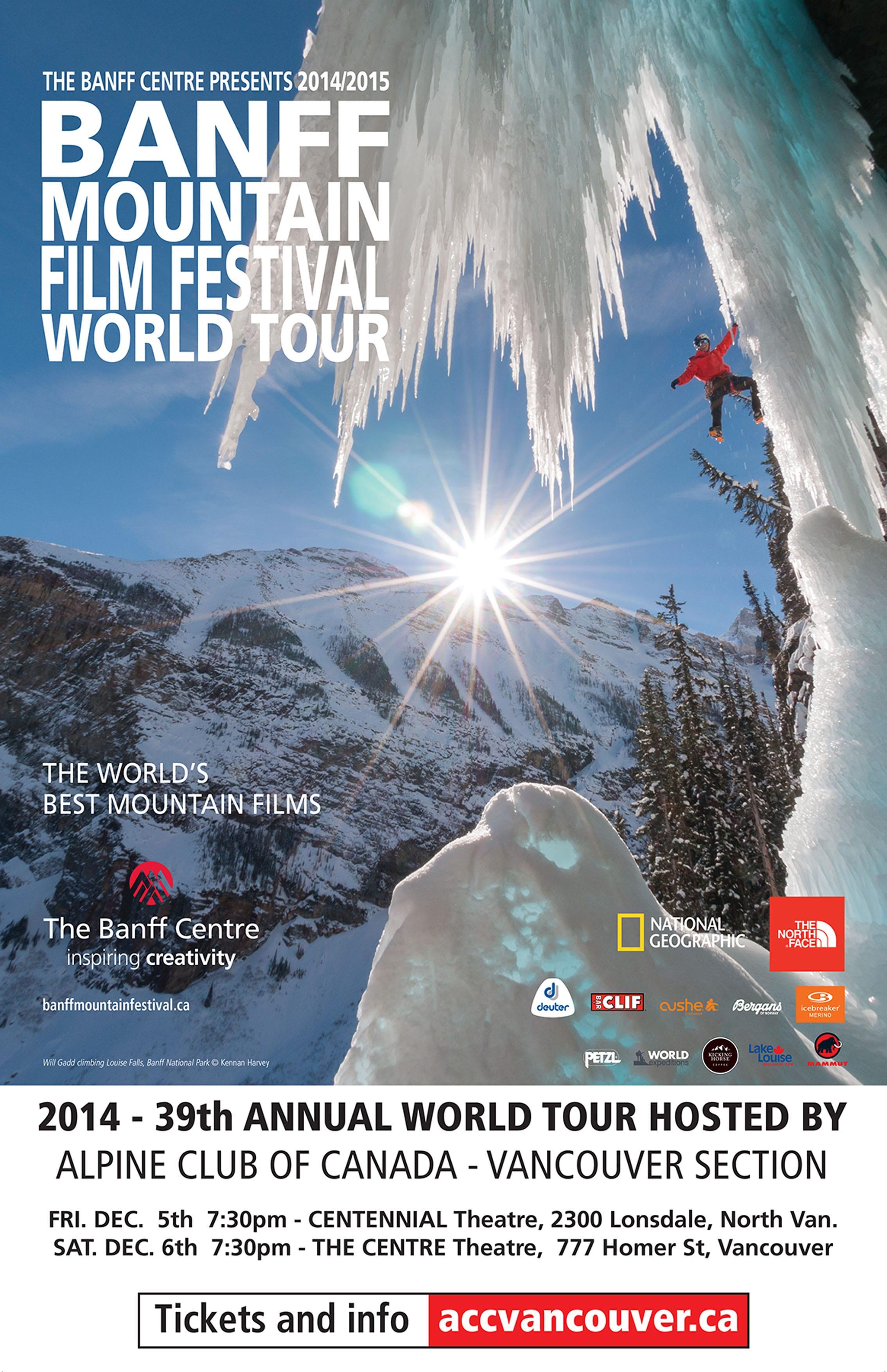 Alpine Club of Canada presents Banff Mountain Film Festival World Tour