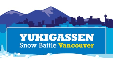 Canadian Cancer Society Yukigassen – Snow Battle Vancouver 2015 at Robson Square