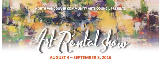 The Art Rental Show at CityScape Community Art Space North Vancouver