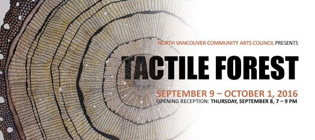 Tactile Forests an Exhibition at the CityScape Community ArtSpace North Vancouver