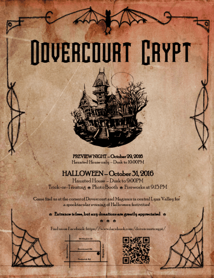 Dovercourt Crypt Haunted House in Lynn Valley North Vancouver