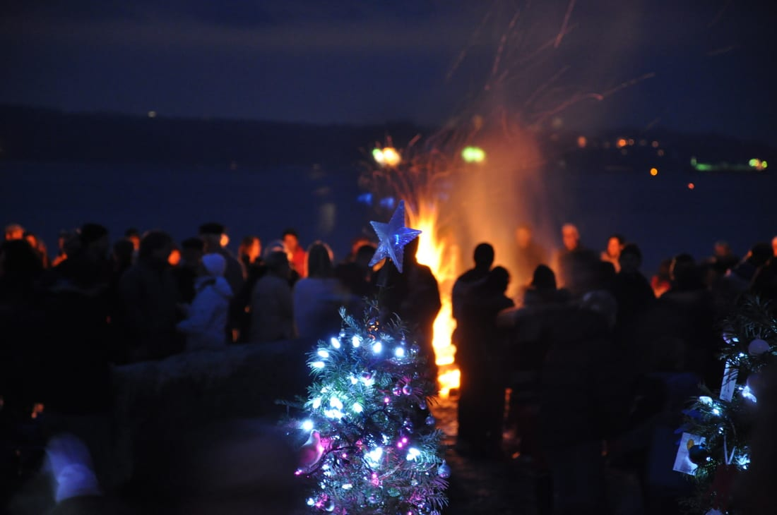 The Forest of Miracles: Ending Homelessness Beautifully a Christmas Festival at Dundarave Beach West Vancouver