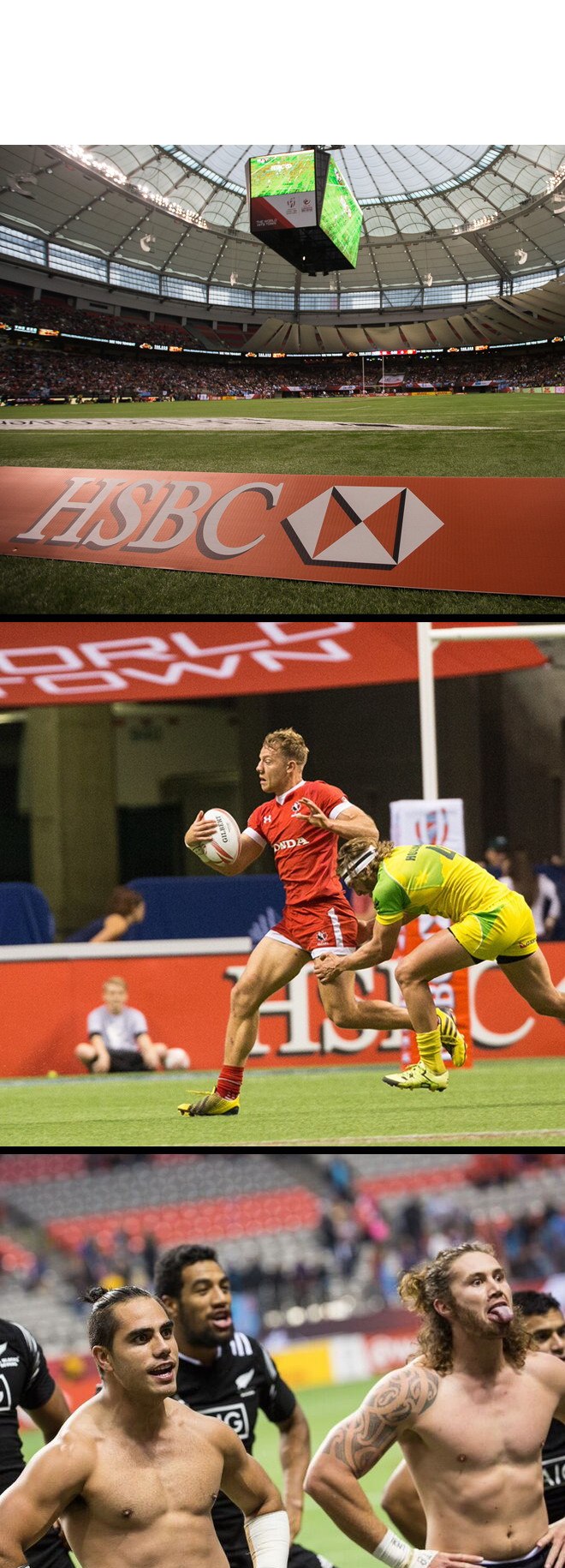 HSBC World Rugby Sevens Series Tournament at BC Place Stadium Vancouver