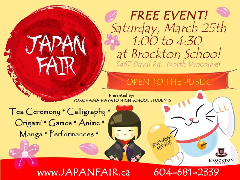 Japan Fair Event at Brockton School North Vancouver