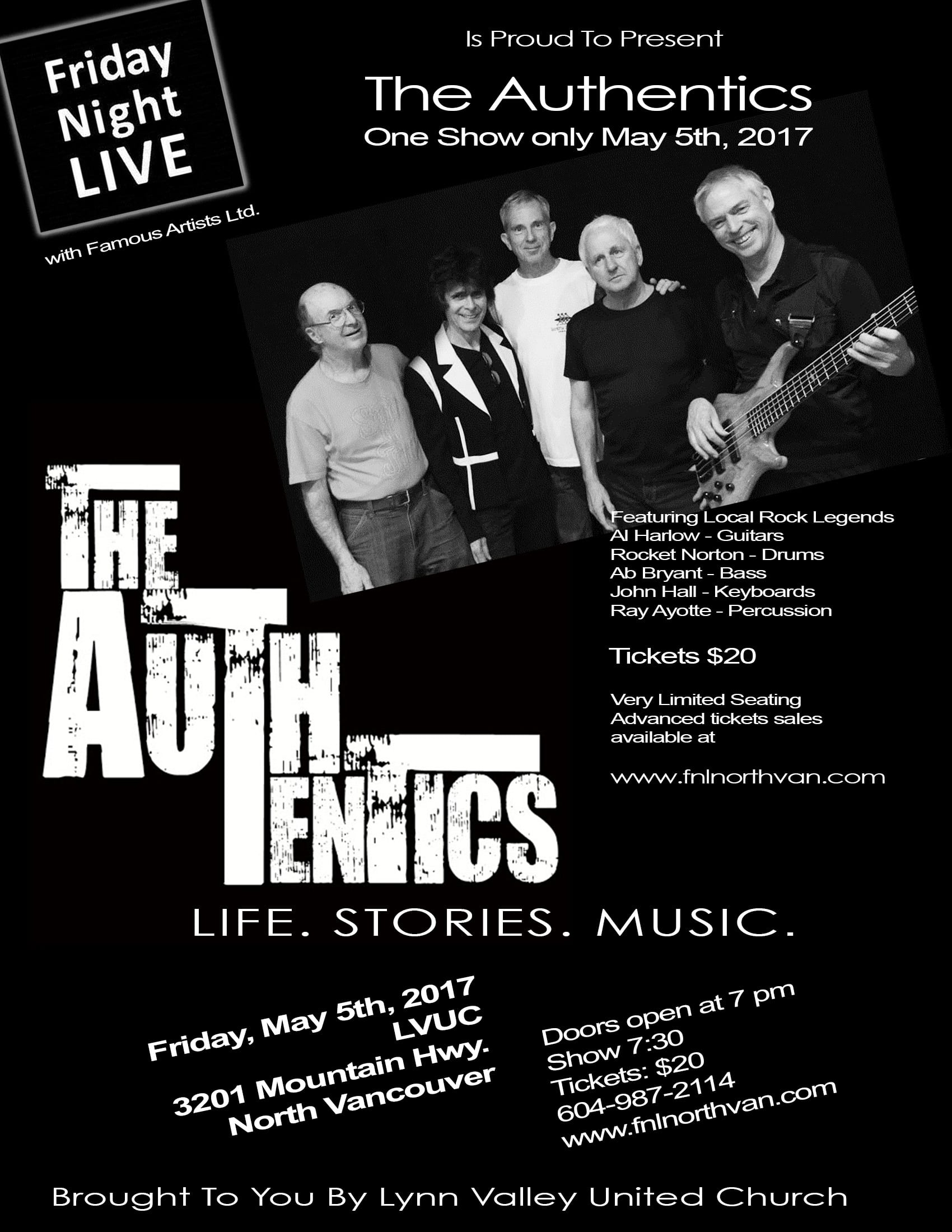 Friday Night Live at the Lynn Valley United Church North Vancouver – The Authentics