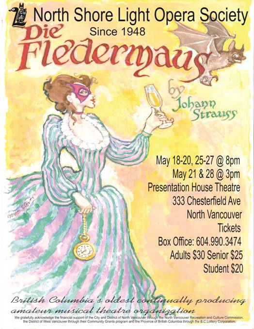 Die Fledermaus at the Presentation House Theatre North Vancouver