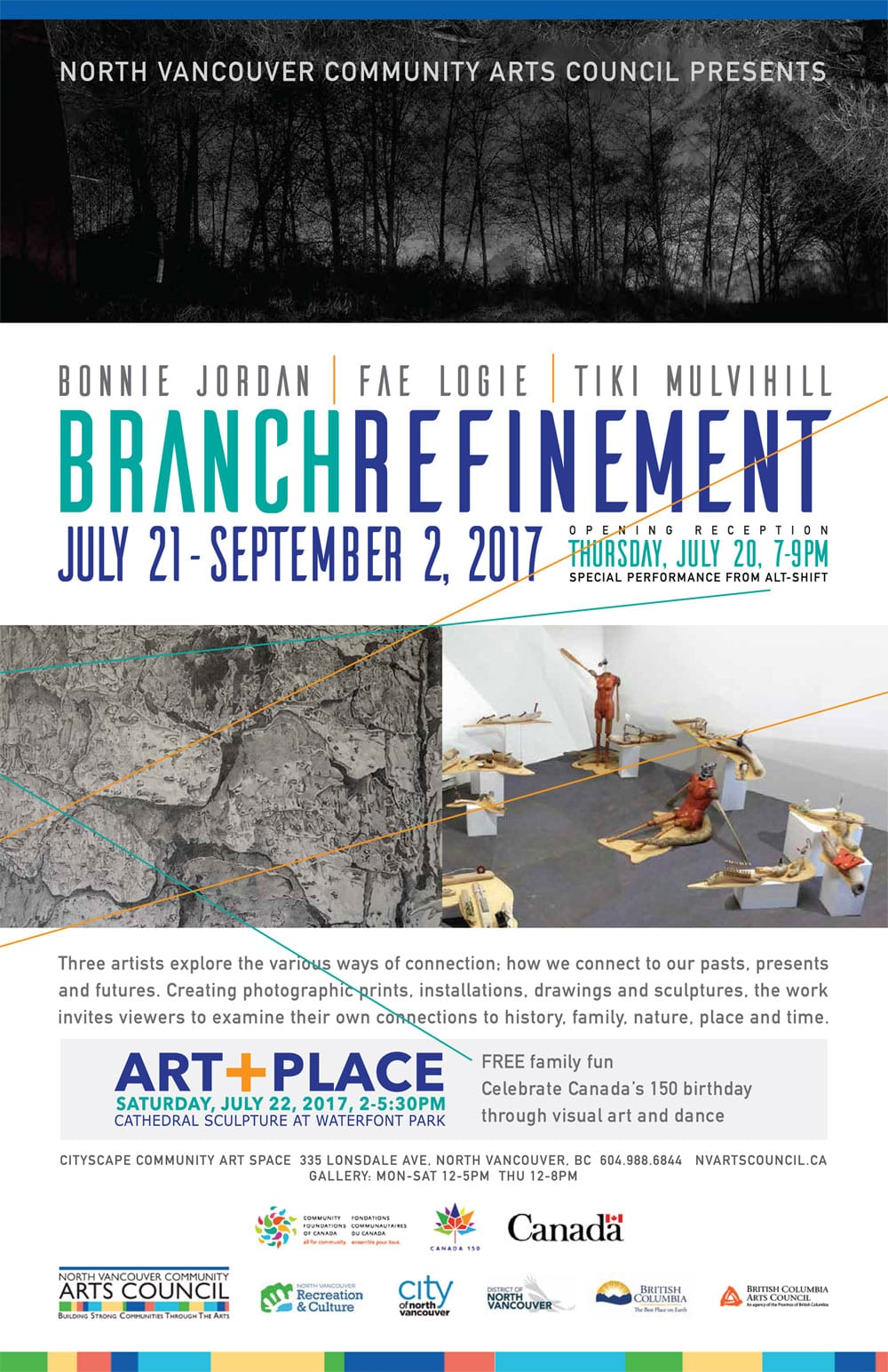 Branch Refinement at the Cityscape Community Art Space North Vancouver