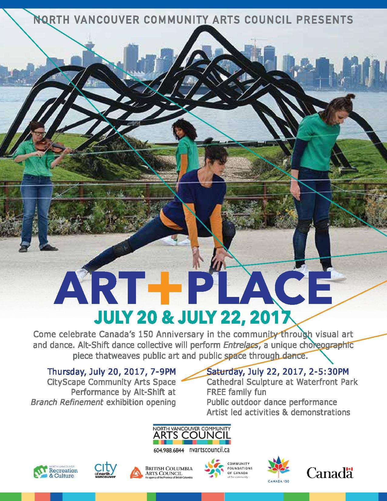 ART+PLACE a Dance Performance at the Waterfront Park North Vancouver
