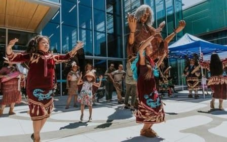First Welcome Hych'ka at Waterfront Park North Vancouver