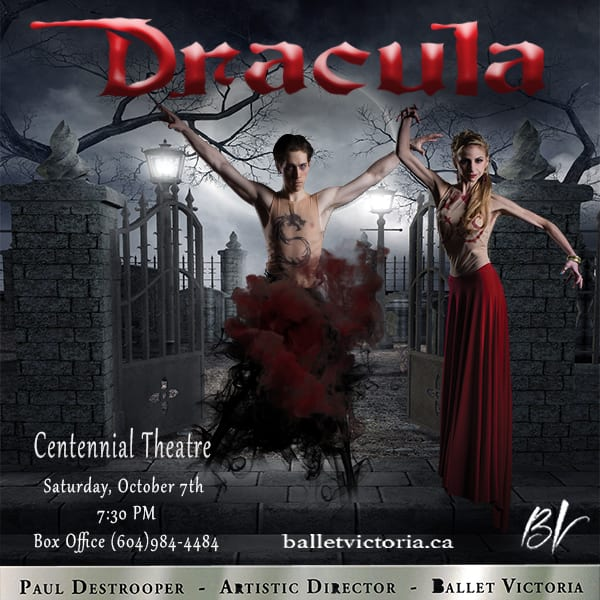 Ballet Victoria's Dracula at the Centennial Theatre North Vancouver