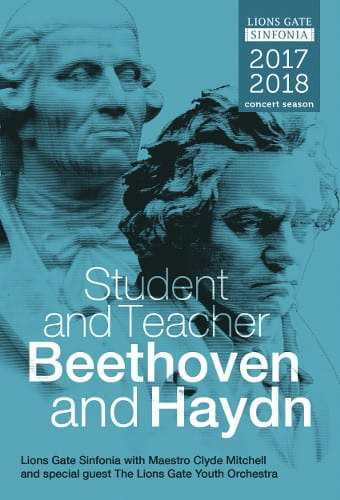 Student and Teacher – Beethoven and Haydn at the Centennial Theatre North Vancouver