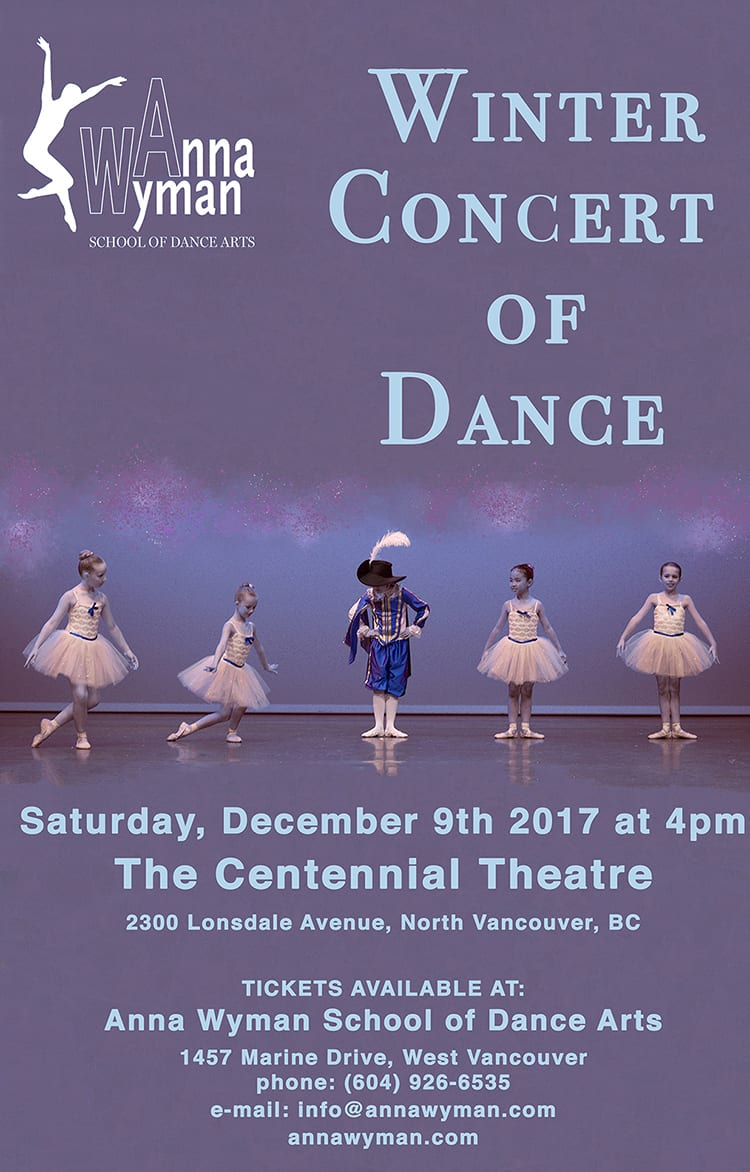 Winter Concert of Dance 2017 at the Centennial Theatre North Vancouver