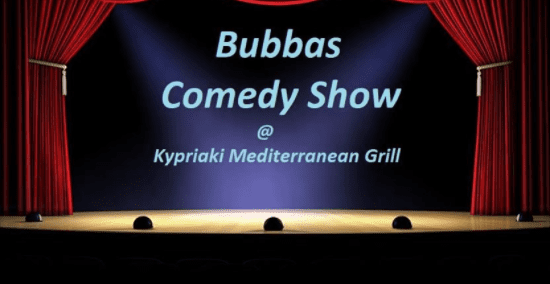 Bubbas Comedy Show at the Kypriaki Mediterranean Grill Restaurant North Vancouver