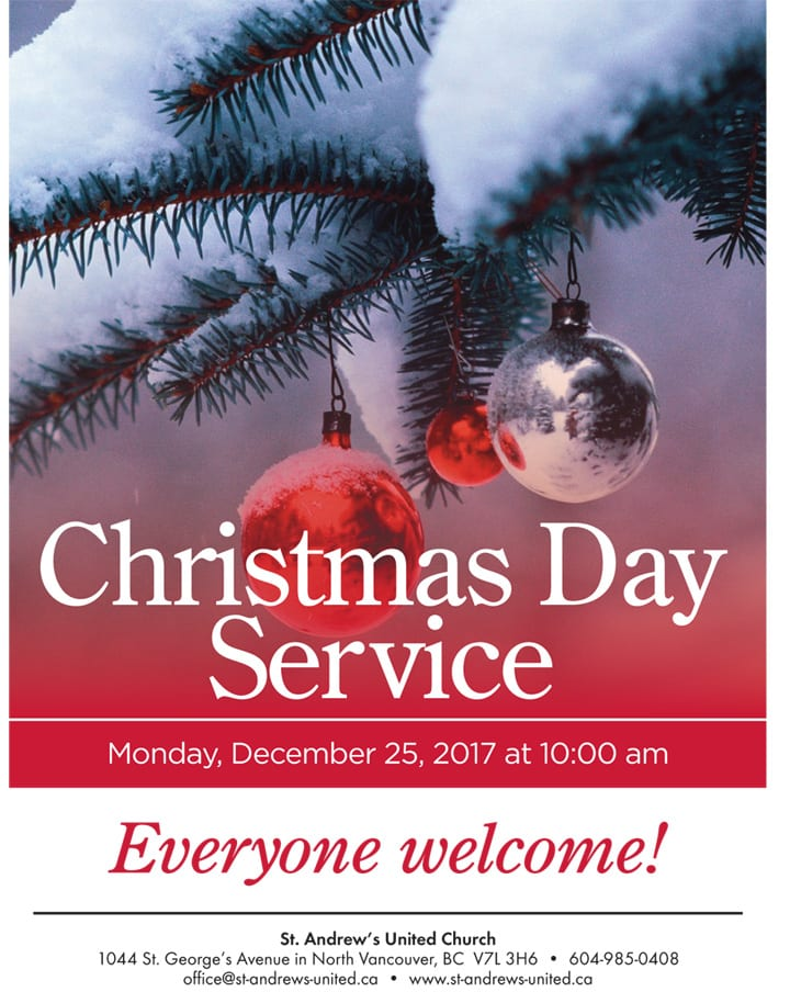 Christmas Day Service at St. Andrew's United Church North Vancouver