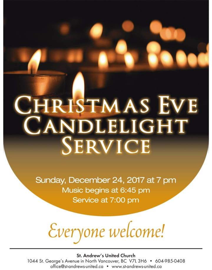 Christmas Eve Candlelight Service at St. Andrew's United Church North Vancouver