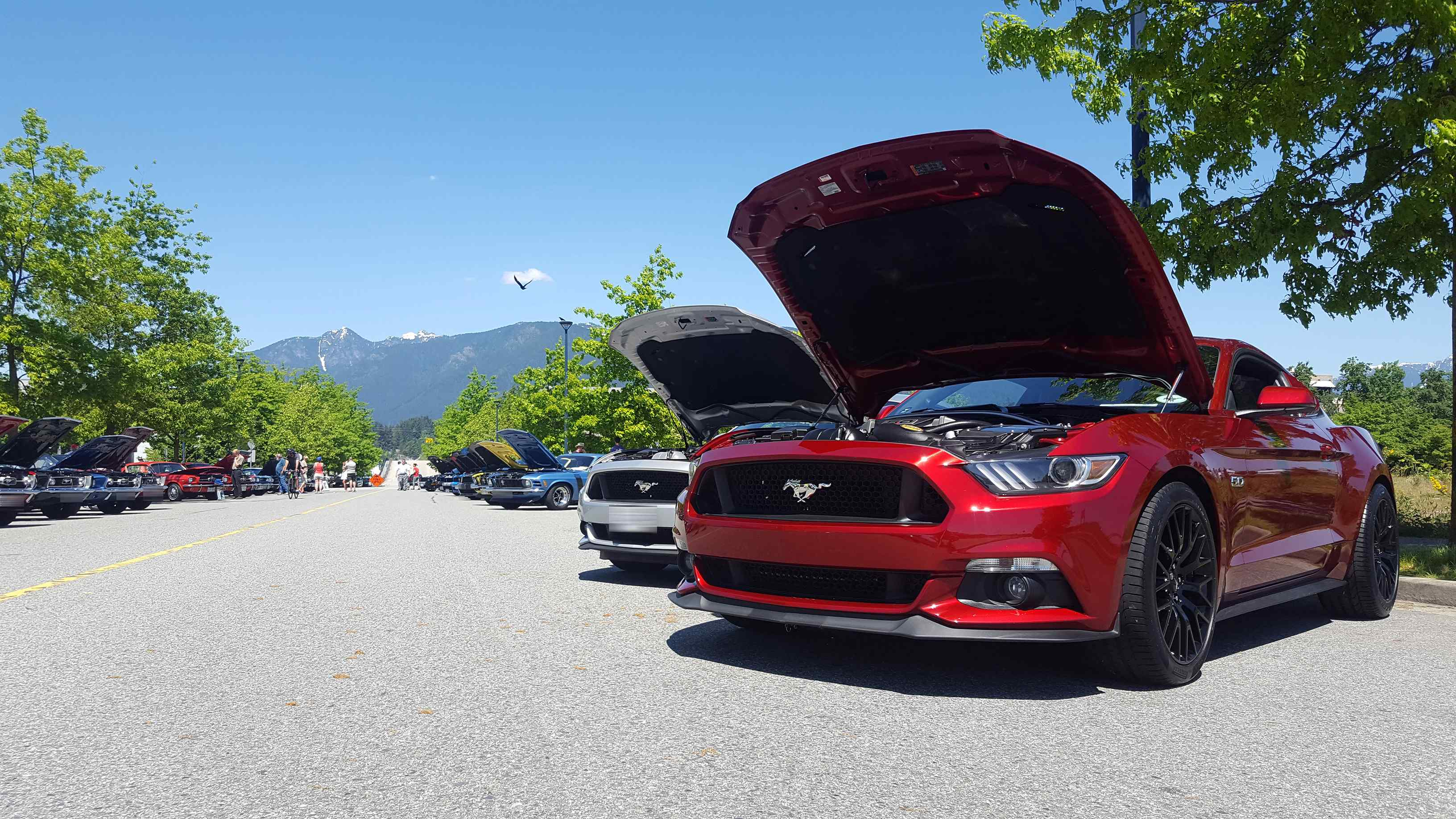 Greater Vancouver Mustang Association Spring Car Show at Harbourside Place North Vancouver