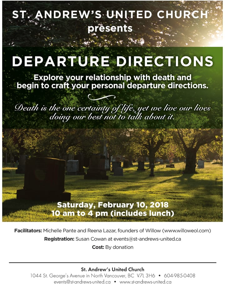 Departure Directions Workshop at St. Andrew's United Church North Vancouver