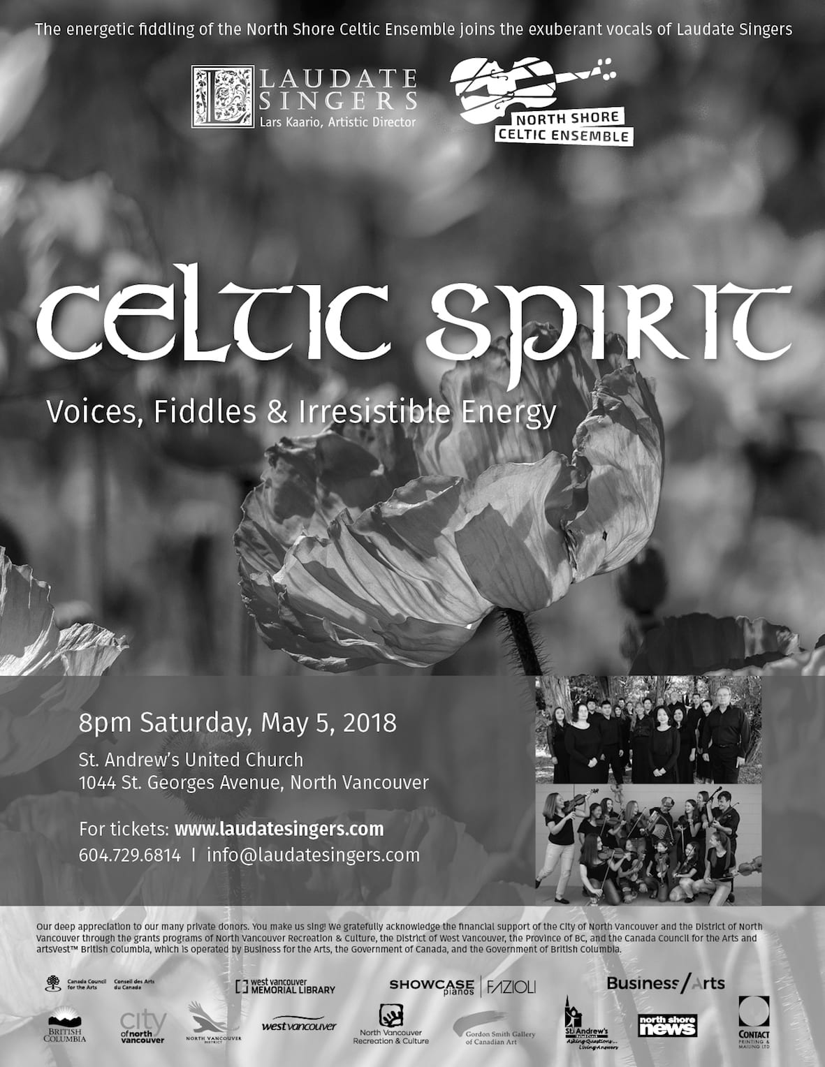 Celtic Spirit – Voices, Fiddles and Irresistible Energy at St. Andrew's United Church