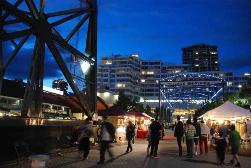 Shipyards Night Market at the Shipbuilders' Square North Vancouver
