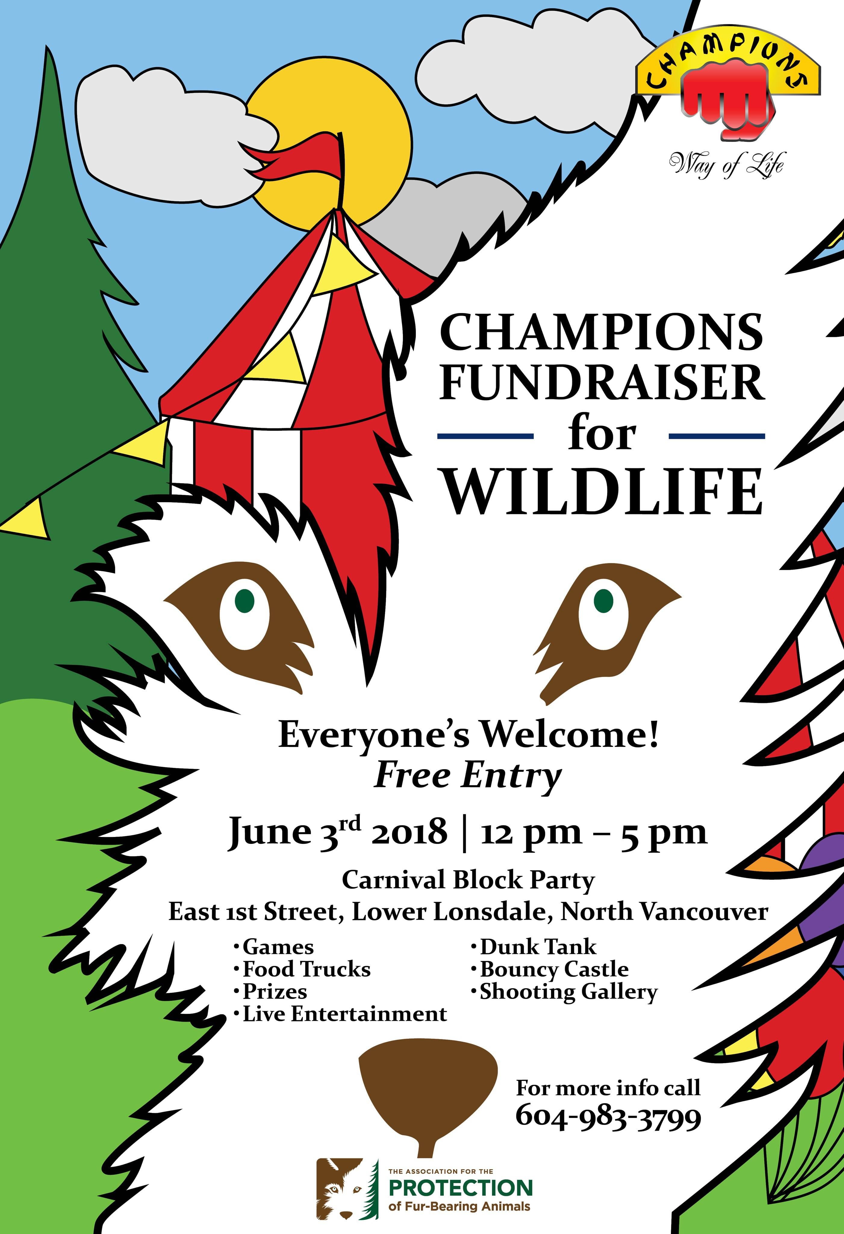Champions Fundraiser for Wildlife in North Vancouver
