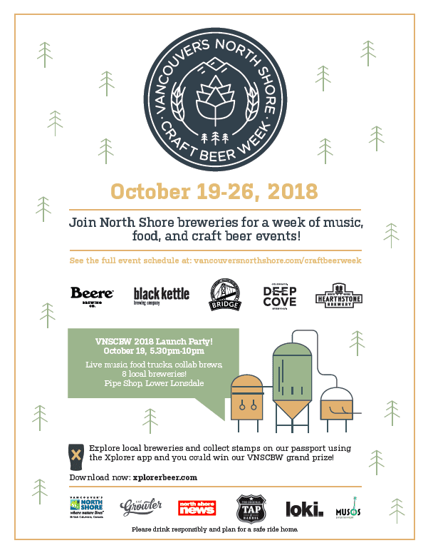 Vancouver's North Shore Craft Beer Week Launch Party