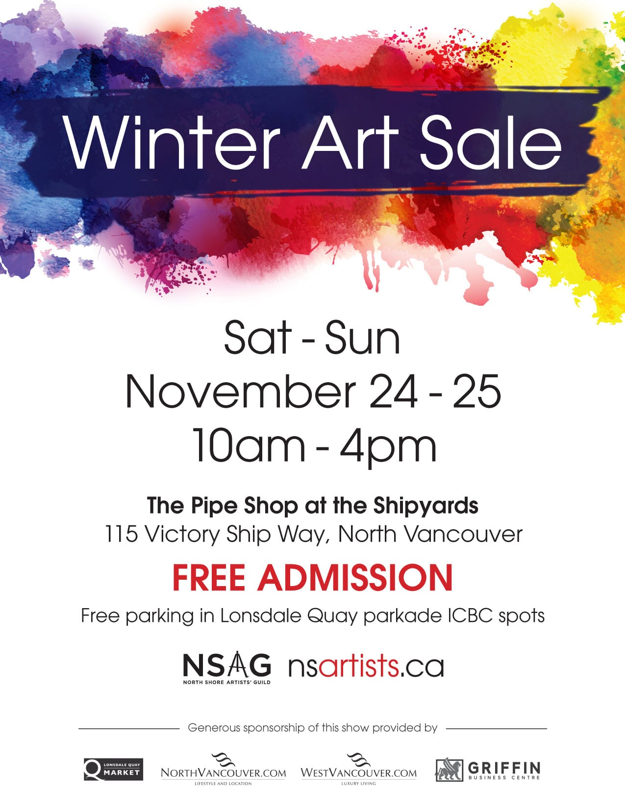 Winter Art Sale Lower Lonsdale