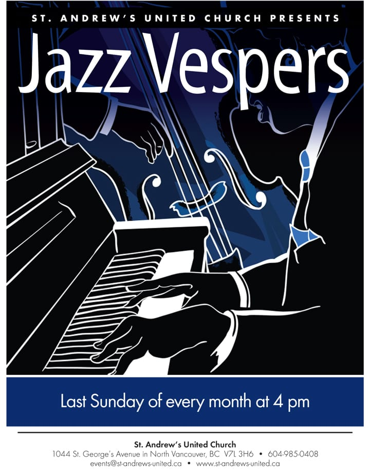 Jazz Vespers at St. Andrew's United Church on the North Shore