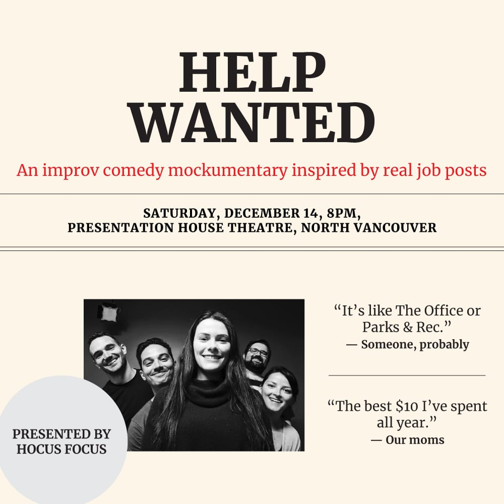 Help Wanted – An Improv Comedy Mockumentary