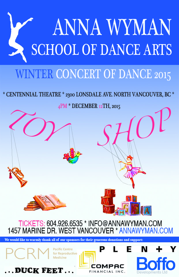 Anna Wyman School of Dance Arts presents: Toy Shop! at the Centennial Theatre