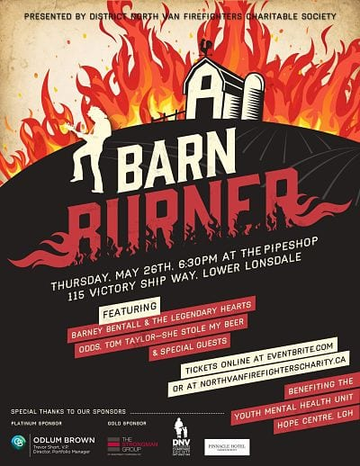 Barn Burner – A Night of Legendary Music at the Pipeshops at Shipyards