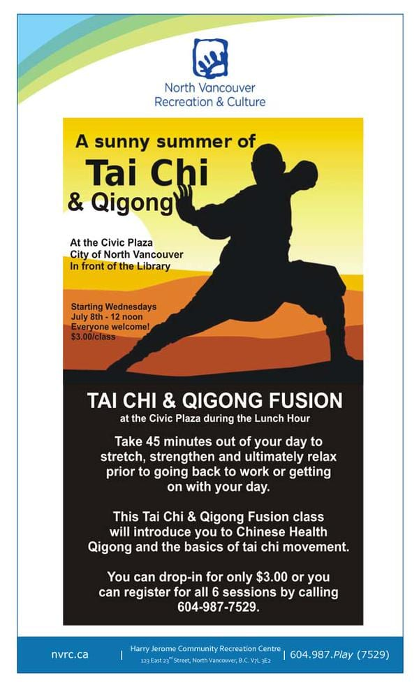 A Sunny Summer of Tai Chi & Qigong at the Civic Plaza North Vancouver