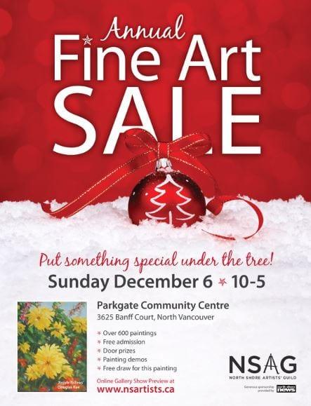 North Shore Artists Guild Annual Fine Arts Sale at the Parkgate Community Centre