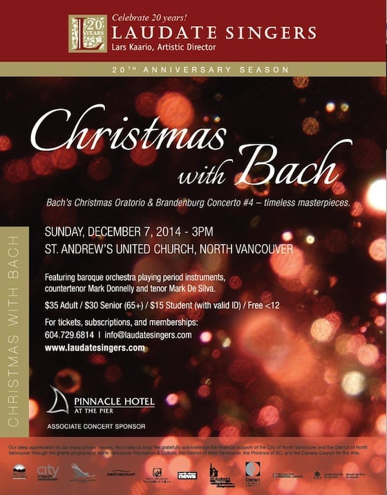 Christmas with Bach – Concert at St Andrews United Church North Vancouver
