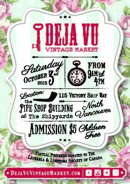 Deja Vu Vintage Market at The Pipe Shop North Vancouver