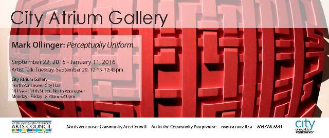 Mark Ollinger: Perceptually Uniform at the City Atrium Gallery North Vancouver