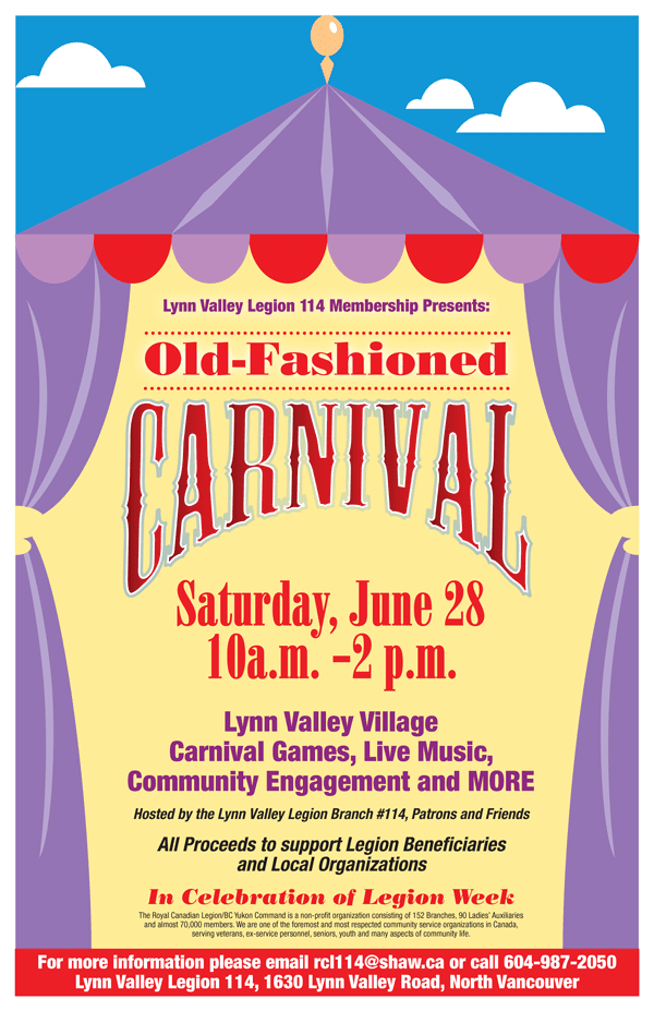 Lynn Valley Legion 114 presents Old-Fashioned Carnival in North Vancouver