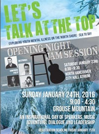 Talk at the Top 2016 at the City Hall Atrium and on Grouse Mountain North Vancouver