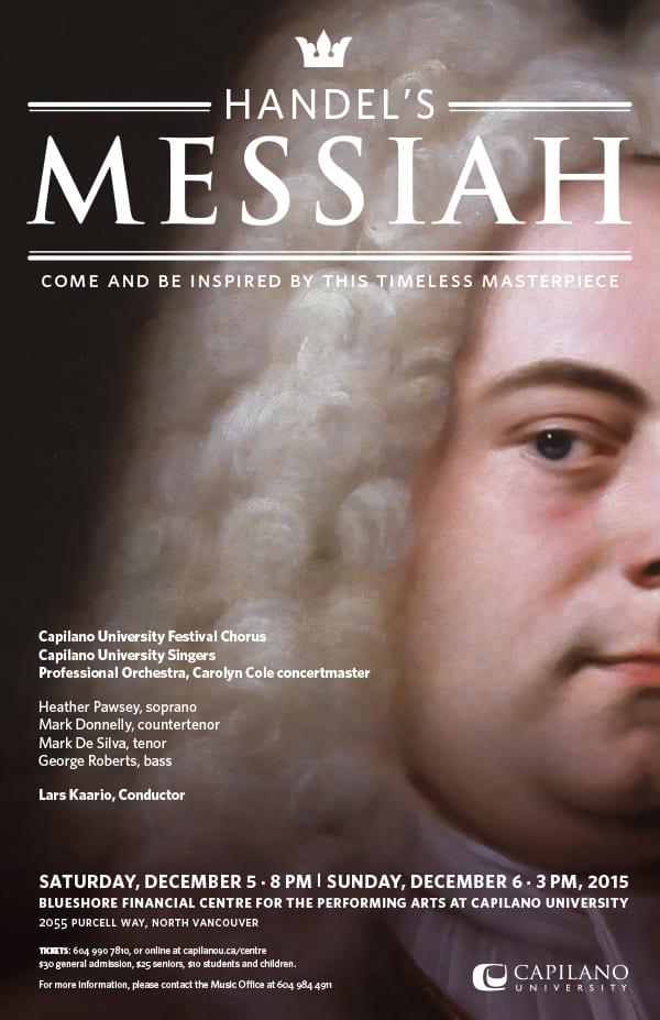 Handel's Messiah at the BlueShore Theatre at Capilano University