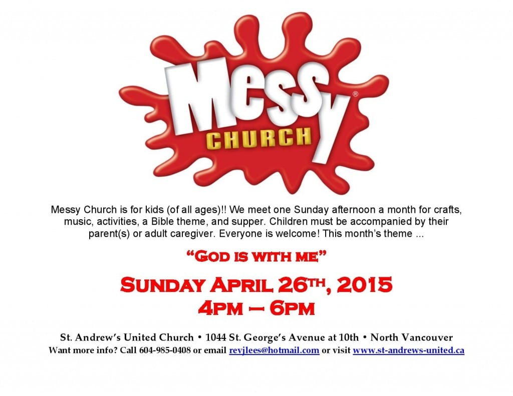 Messy Church @ St. Andrew's United Church for Children of All Ages