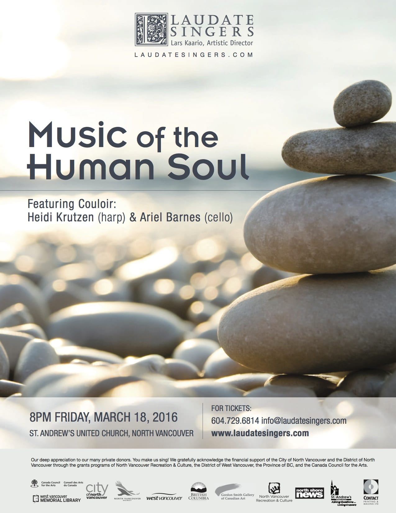Music of the Human Soul a Musical Evening at the St Andrews United Church North Vancouver