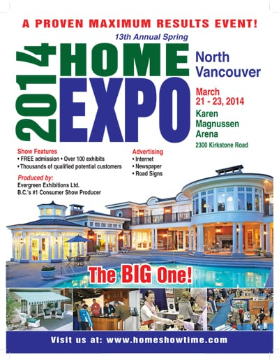 13th Annual North Vancouver Spring Home Expo
