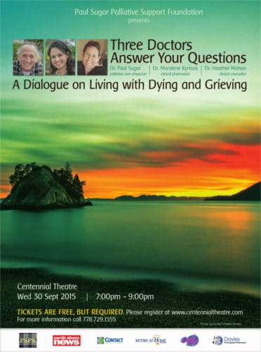 A Dialogue on Living with Dying and Grieving at the Centennial Theatre North Vancouver
