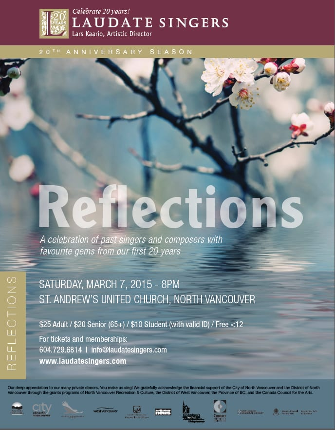 Reflections by Laudate Singers at the St Andrews United Church